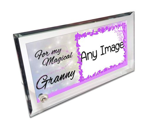 Personalised for My Magical Relation Crystal Photo Frame